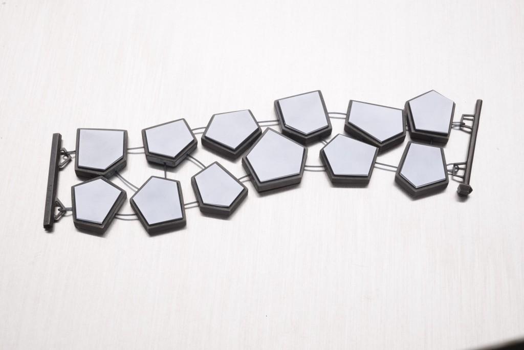 BRACELET specchio –  2012 – AG 925 BLACK PLATED HEMATIT SYNTHETIC NYLON