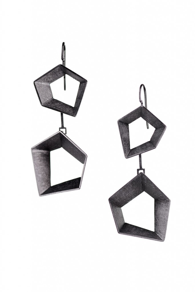 Earrings Open Space – 2009 – Black Plated AG 925