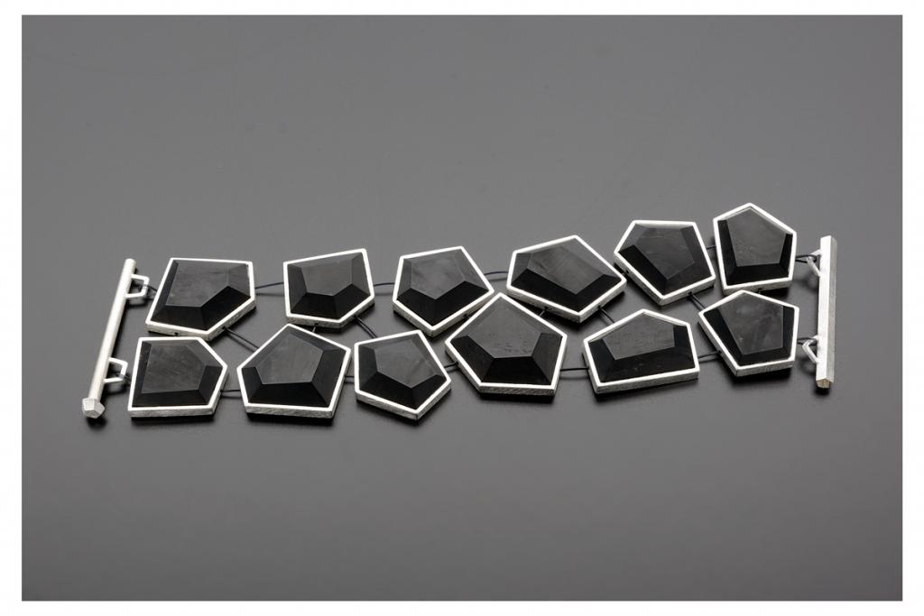 Bracelet Lost Segments – 2011 – AG 925 Jet Nylon