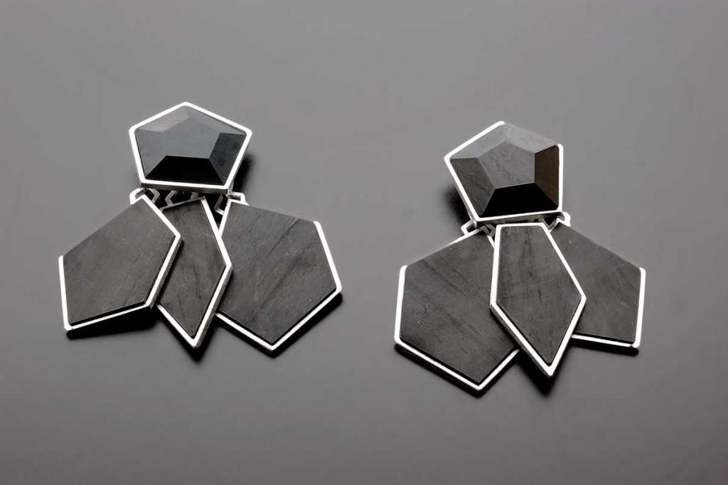 Pentagramm Earrings – 2012 – AG 925 Jet