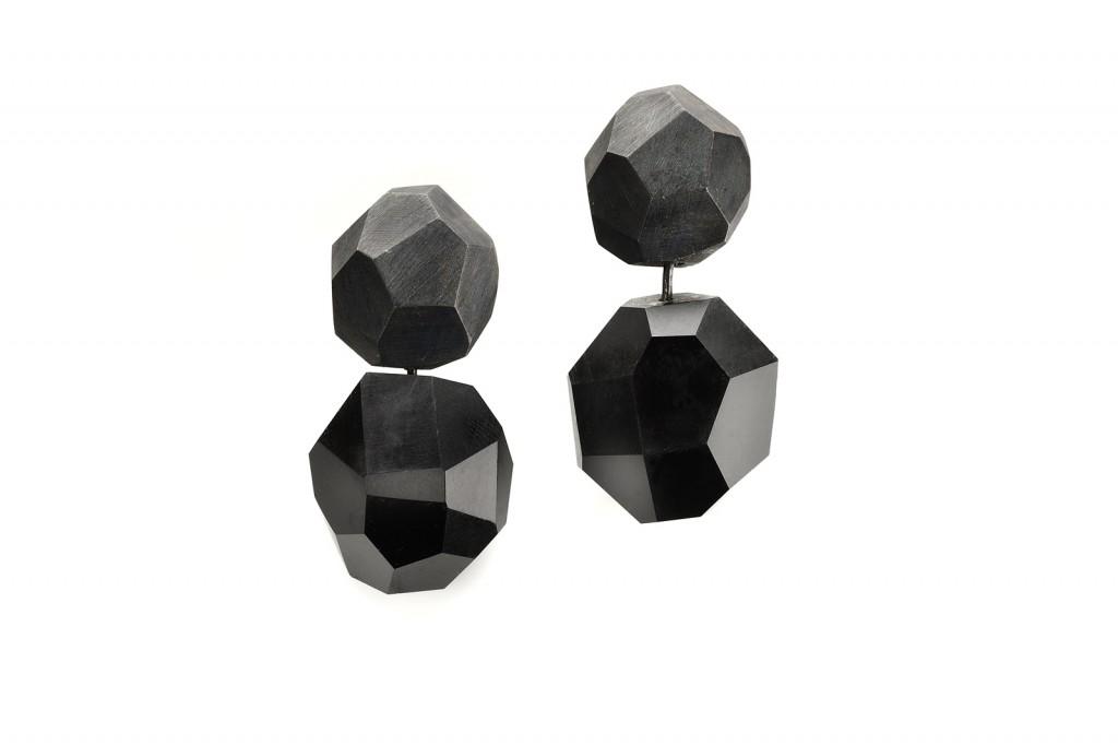 EARRINGS ROCKS -2012 – AG 925 JET