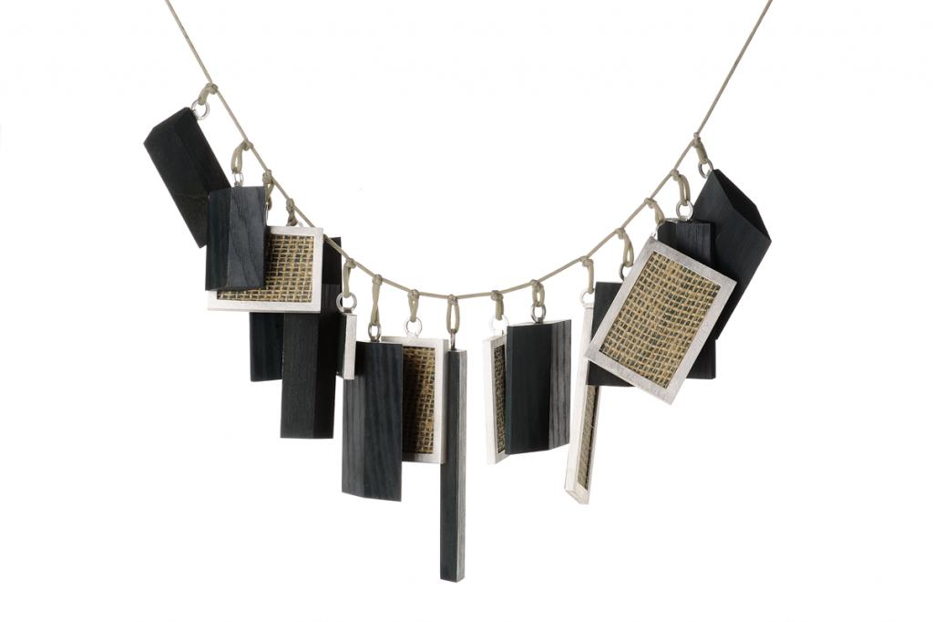 Necklace – 2012 – Jet Linoleum Silk AG 925 Black Plated