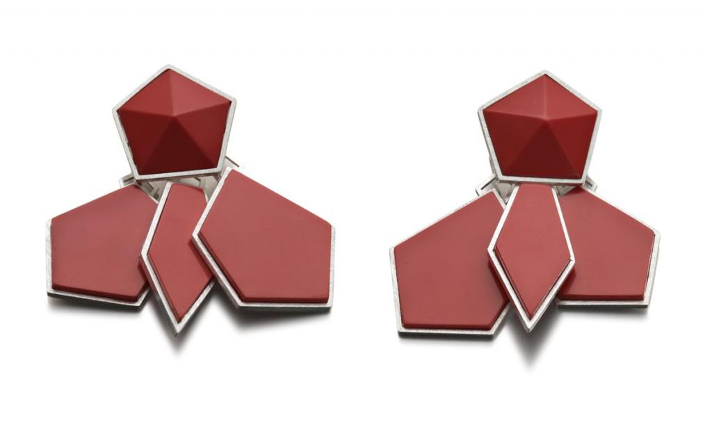 PENTAGRAM EARRINGS – 2012 – AG 925 JET