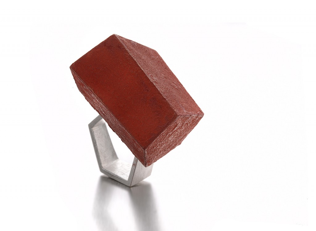 RING – 2012 – AG 925 WOOD ACRYL PAINT PIGMENT