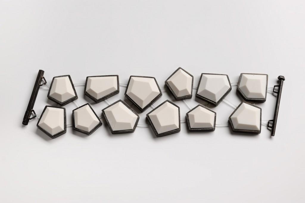 Bracelet – 2011 – AG 925  syntetic white coral nylon
