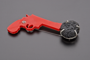 Our World Brooch - 2015 - 3d print pistol corn rockcystall Tektite AG 925 stainless steal
