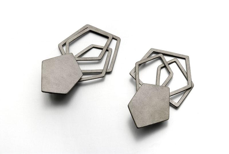 Pollipo Earrings – 2009 – Black Plated ag 925