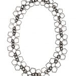 PATTERN NECKLACE AG 925 STERLING SILVER BLACK PLATED